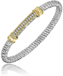 Diamond Bar Closed Bracelet