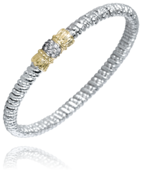 Pave Center Closed Diamond Bracelet