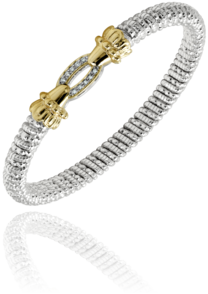 Pave' Oval Diamond Bracelet