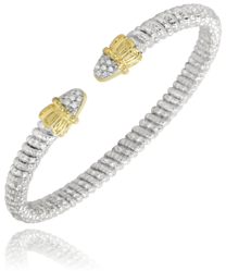 Open Spear Tipped Diamond Bracelet