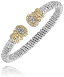 Oval Diamond Open Bracelet