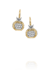 Square Drop Diamond Earrings