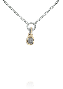 Pave' Oval Diamond Enhancer