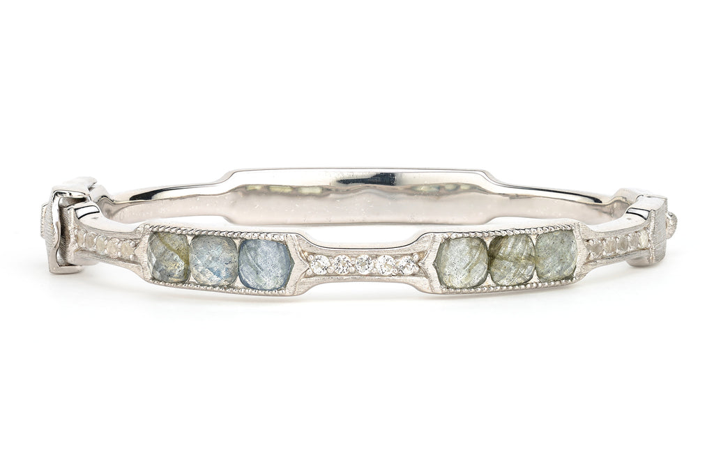 SS Encore Provence Round Stone Bangle