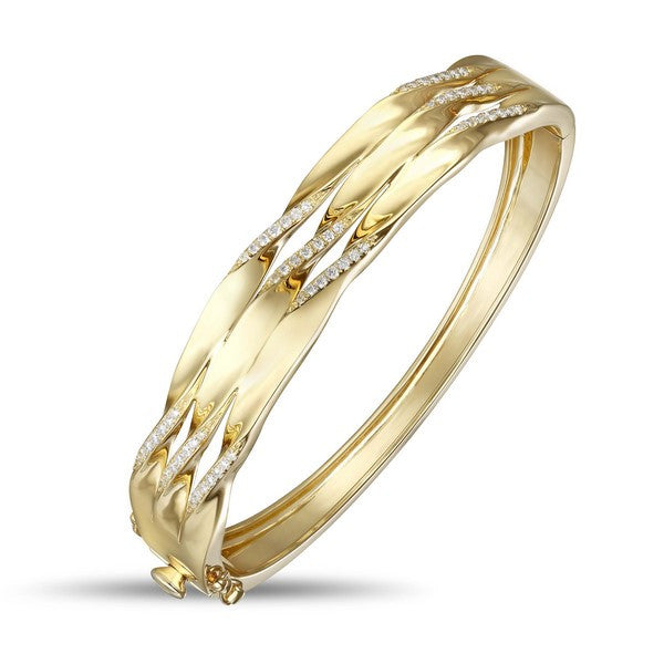 gold and diamond bracelet bangle