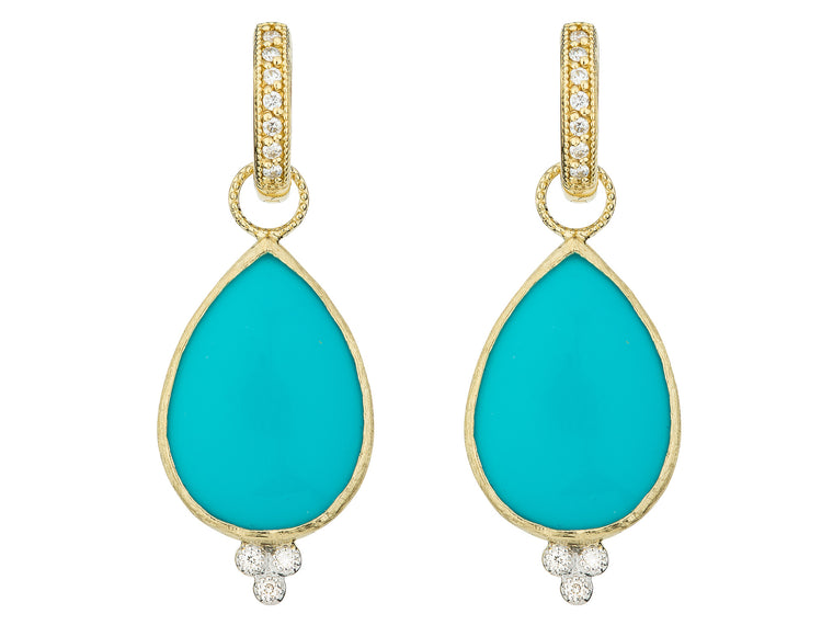 turquoise earring with diamonds