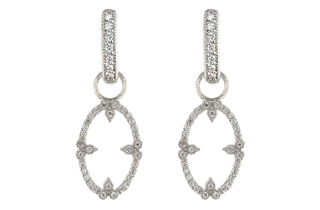 Provence Champagne Open Oval Bezel Earring Charms