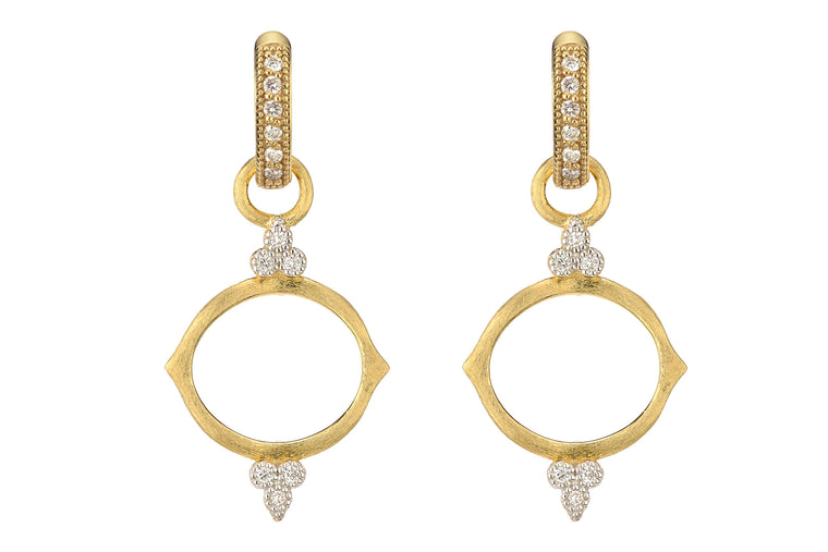 18k Simple Diamond Earring Charm