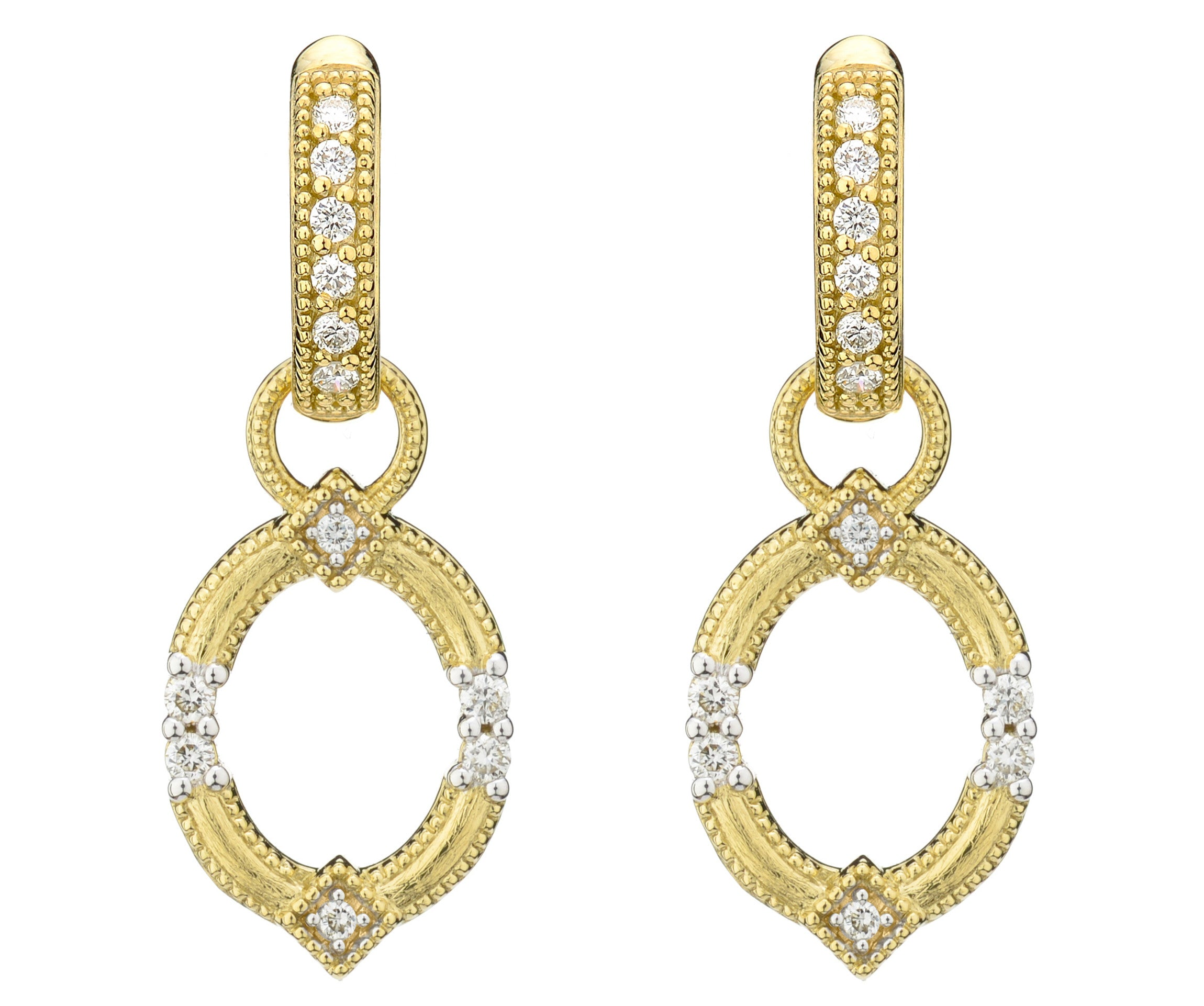 Lisse Open Circle Earring Charms With Simple Diamond Accents ...