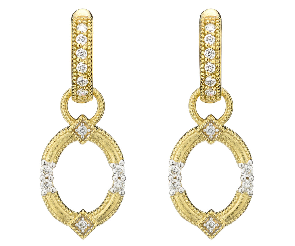 Lisse Open Circle Earring Charms With Simple Diamond Accents