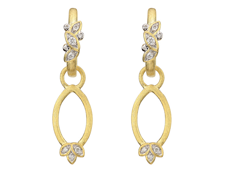 18k Sonoma-Delicate Open Marquis Leaf Earring Charm