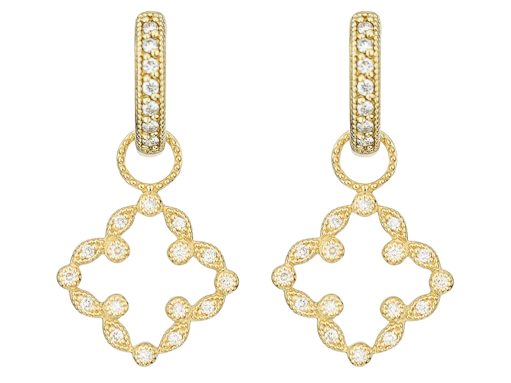 Pave Open Clover Marquis Earring Charms
