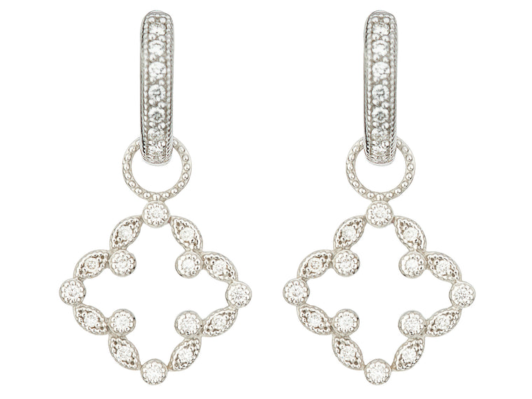 Jude Frances 18K Clover Diamond Earring Charms fskgomo