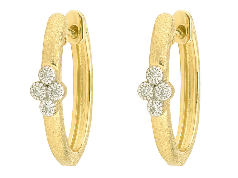 18k Province Diamond Oval Hoop Earring Charms