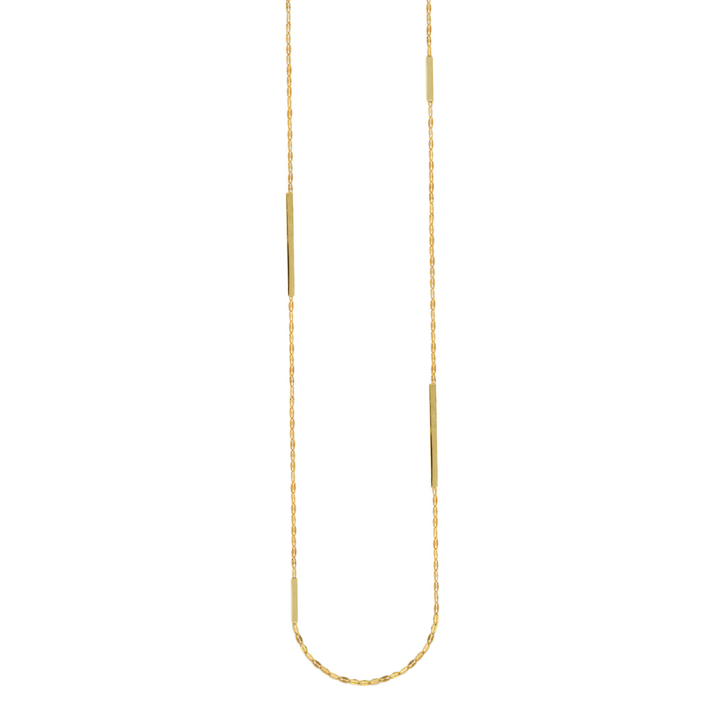 "36"" Bar and Filigree Necklace in 14K"