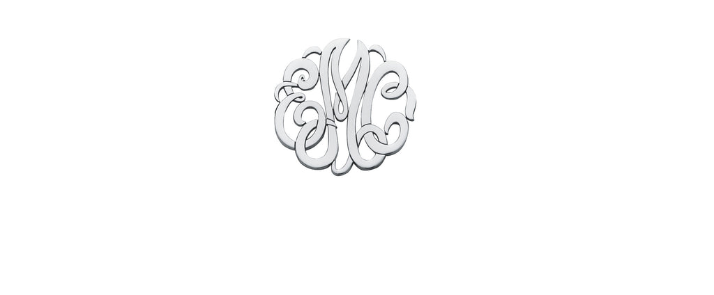 Three-Initial Monogram Earrings