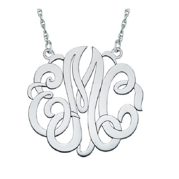 Three-Initial Monogram Necklace