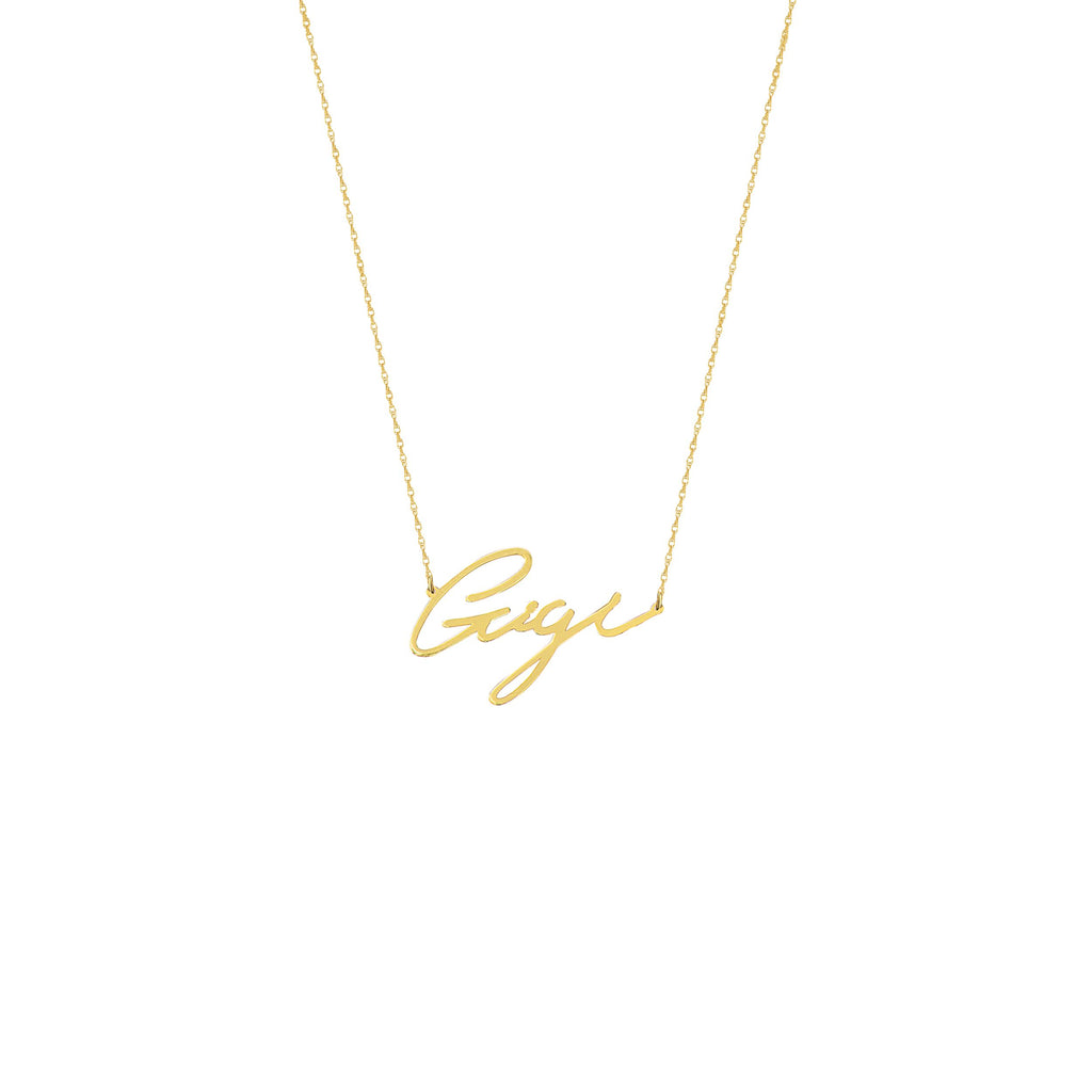 14k Yellow Gold First Name Necklace in Script