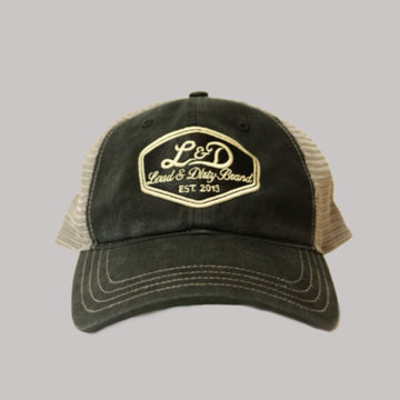 L&D Ratty Trucker Hat - Charcoal