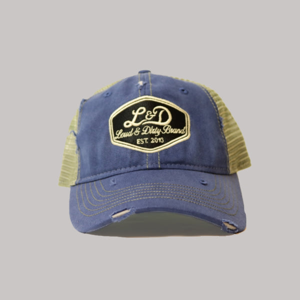 L&D Ratty Trucker Hat - Blue