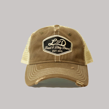 L&D Ratty Trucker Hat - Brown
