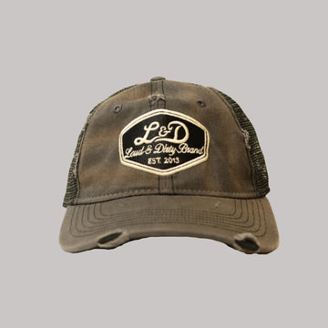 L&D Ratty Trucker Hat - Rust