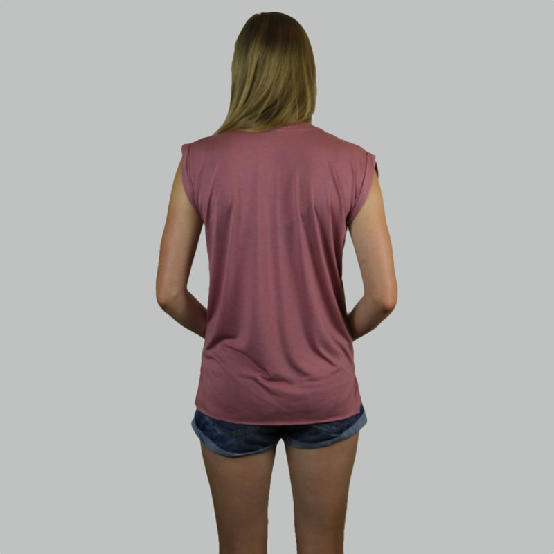 Girls Muscle Shirt - Rose Burgundy