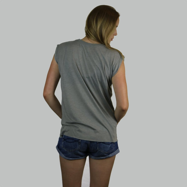 Girls Muscle Shirt - Grey