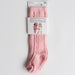 Powder Pink Cable knit knee high socks