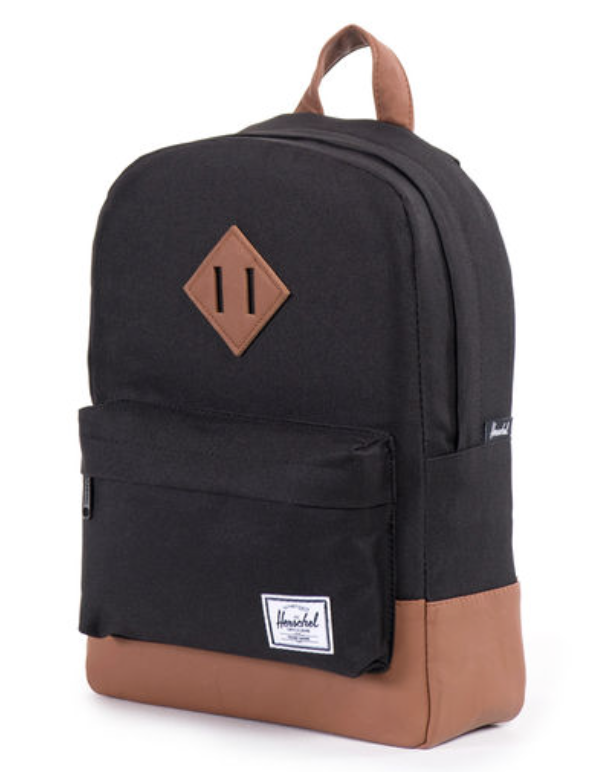 Black Tan Backpack