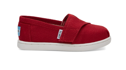 Toms Red Canvas Shoes