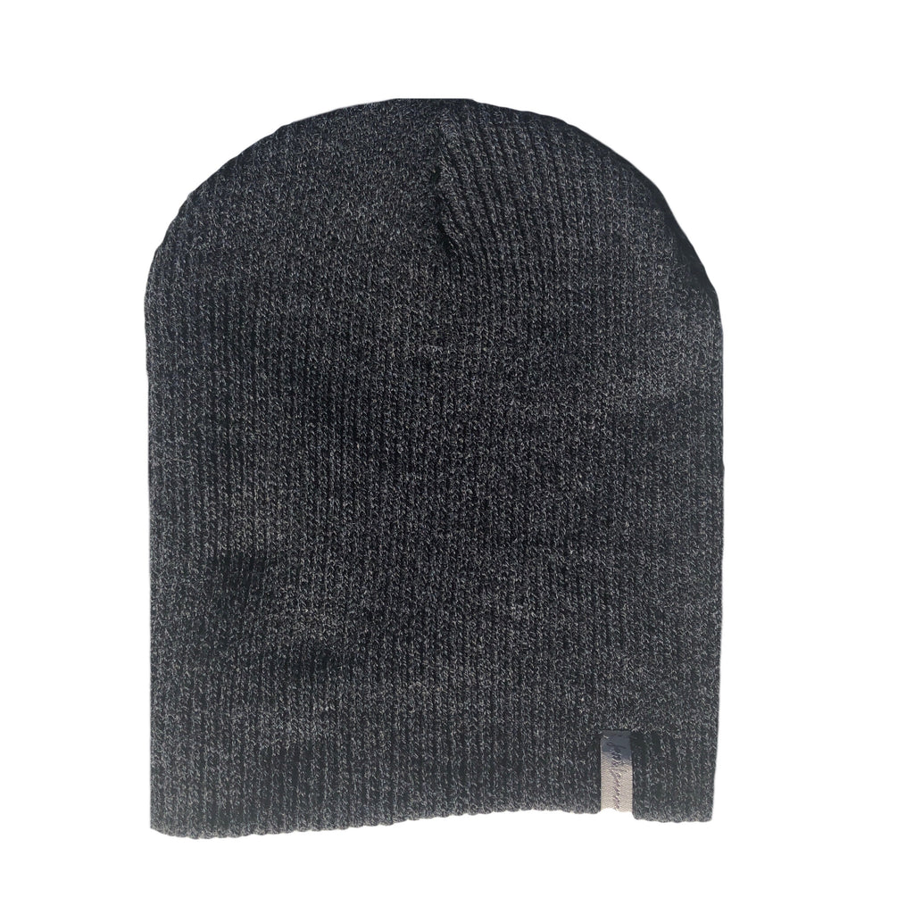 Charcoal Knit Slouchy Beanie