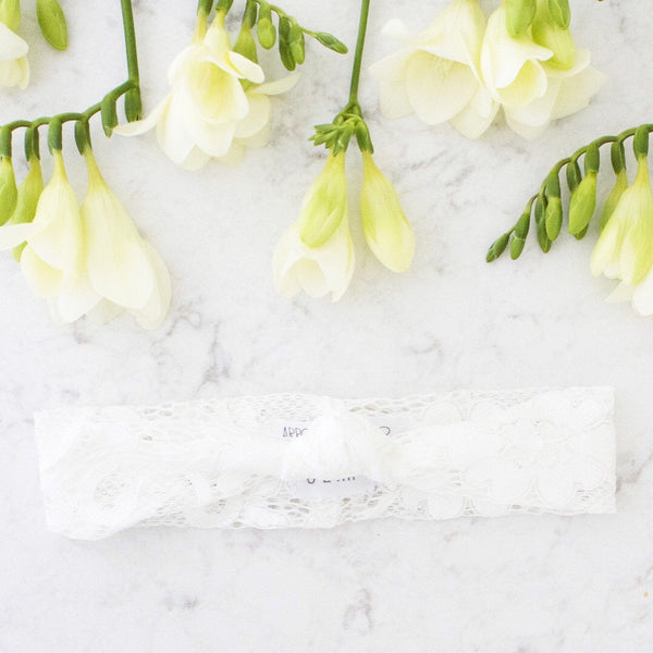 White Grace Lace Headband