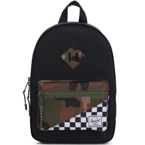 Heritage Kids Black Camo Check