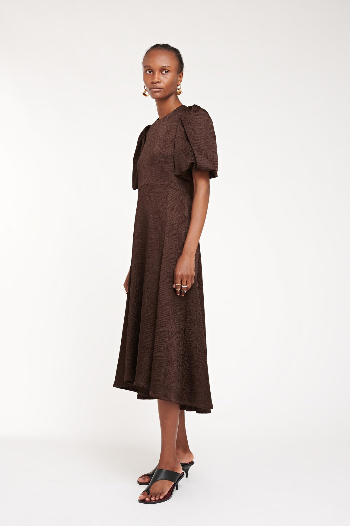 ALBERS DRESS BROWN