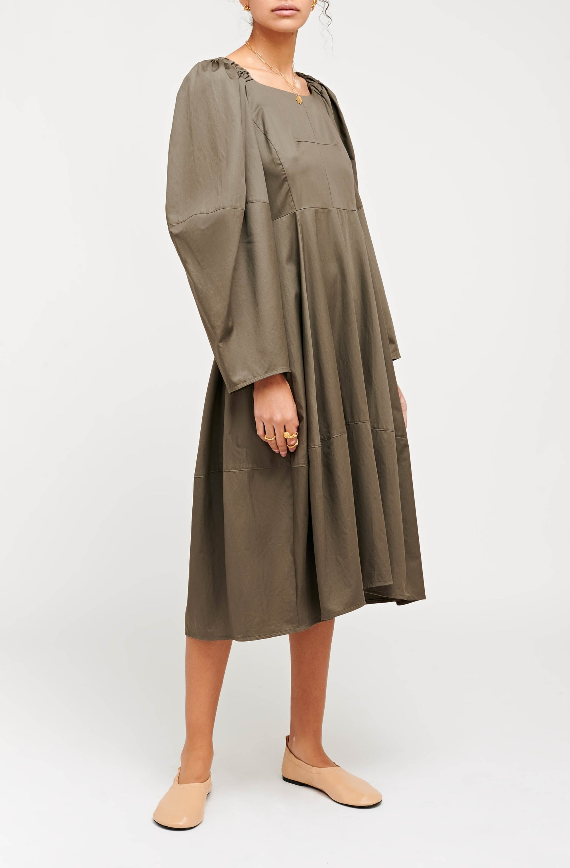ANNI DRESS KHAKI