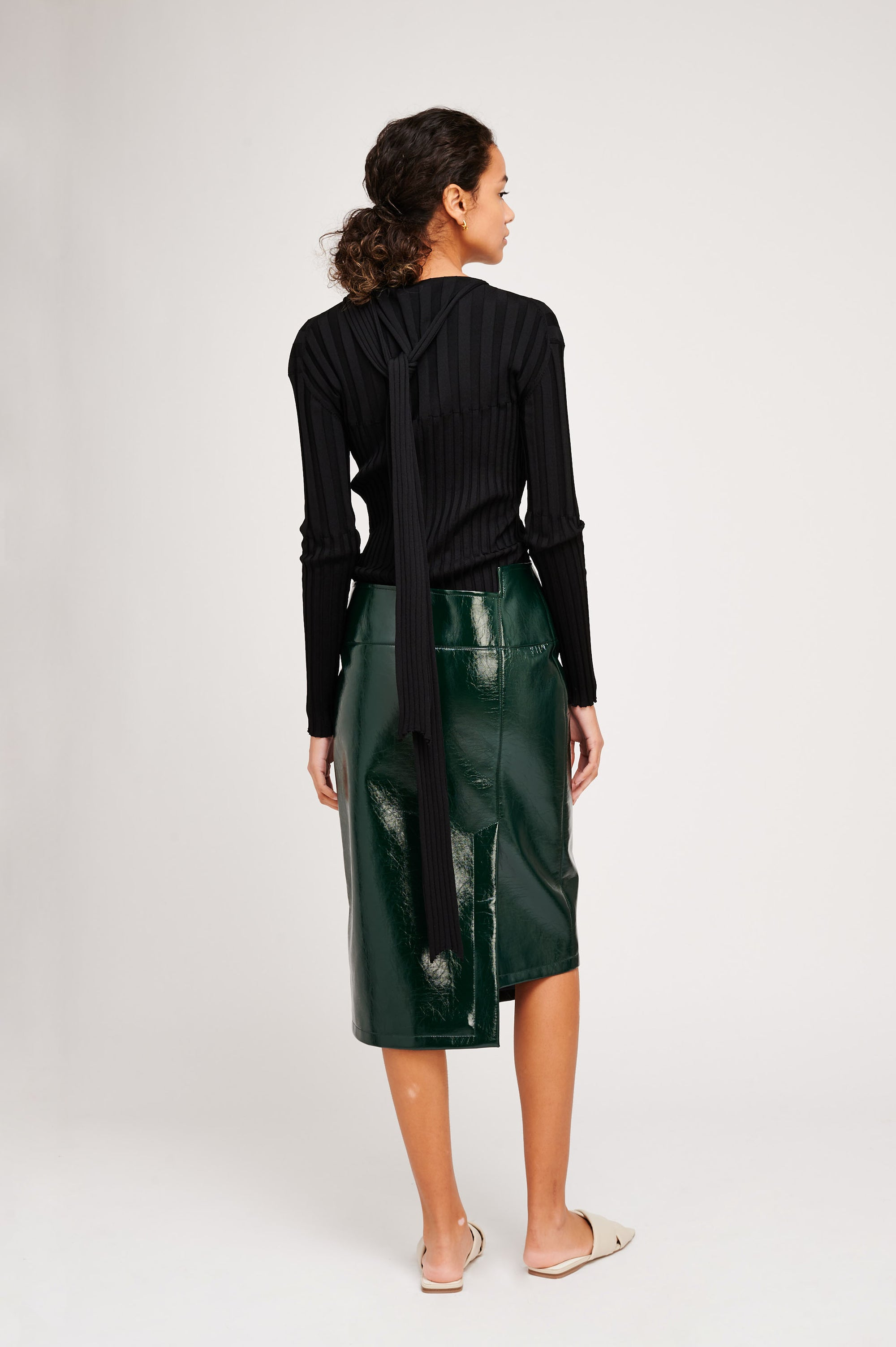 CHIARA PVC SKIRT (GREEN)