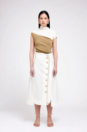 KIRINA SKIRT OFF WHITE