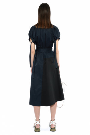 LENA DRESS NAVY/BLACK