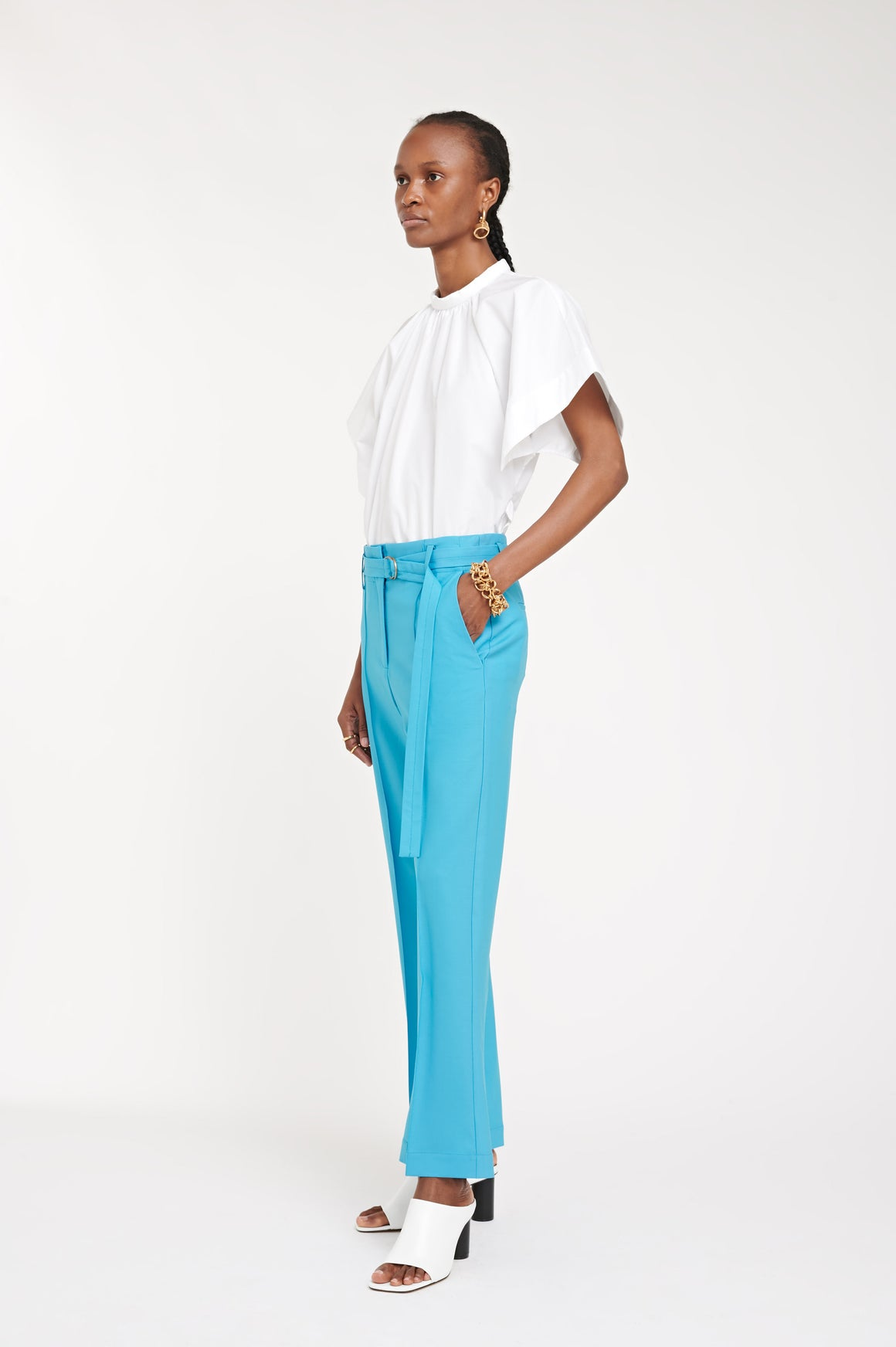 EVELYN TROUSER BLUE