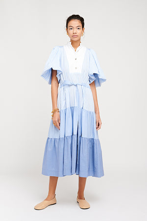 MEREDITH DRESS BLUE STRIPE