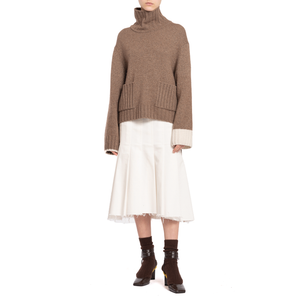 ELEONOR JUMPER (FAWN/OFF-WHITE)