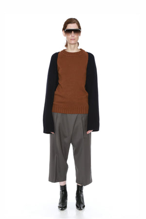 FINI JUMPER (BROWN/NAVY)