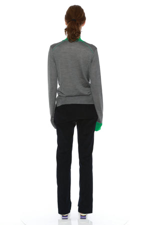 BRIGITTE JUMPER (GREY/GREEN)