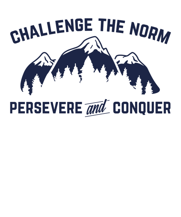 Challenge The Norm Blue Logo