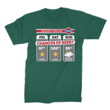 Weekend Weather Sunny With a Chance of Beer? Premium Jersey Men's T-Shirt