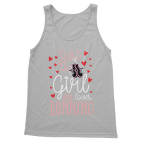 Just A Girl Who Love Running Classic Adult Tank Top