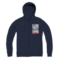 If I Look Busy Don't Disturb Me Unless You Plan To Take Me Camping Seriously. Only Camping Premium Adult Zip Hoodie