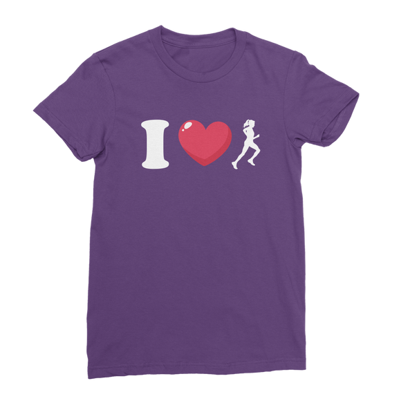 I Love Running Female Runner Classic Women's T-Shirt