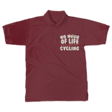No Hour of Life is Wasted With A Cycling Classic Adult Polo Shirt